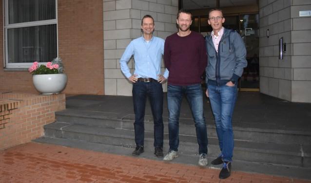 Gerard Sluiskes, Marcel Brinks en Robin te Wierik zijn op het idee gekomen om mee te doen aan de Roparun. Foto: Jolien van Gaalen.