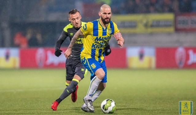 RKC Waalwijk won de vorige ontmoeting met Jong PSV met 3-2. Dit mede dankzij twee doelpunten van Johan Voskamp. Foto: Alexander de Peffer