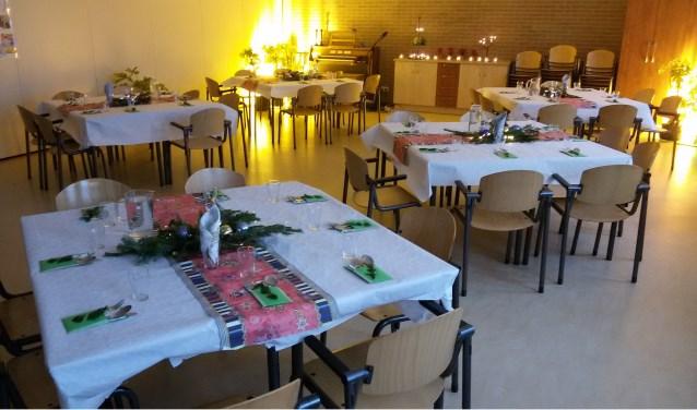 Zaal waar we samen eten