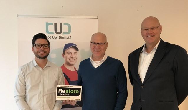 Jaap Brouwer, Projectleider Tot Uw Dienst!, Roelf Jager, Manager Restore en Bor Veen, Directeur Werkkracht.