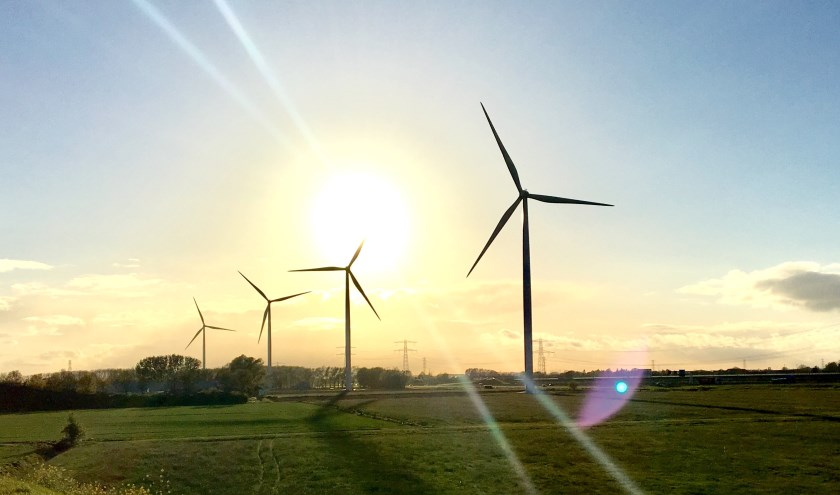 Windpark Nijmegen-Betuwe.