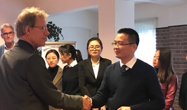 Vorige week brachten ook vertegenwoordigers van de stad PingDingShan een bezoek aan St. Barbara.