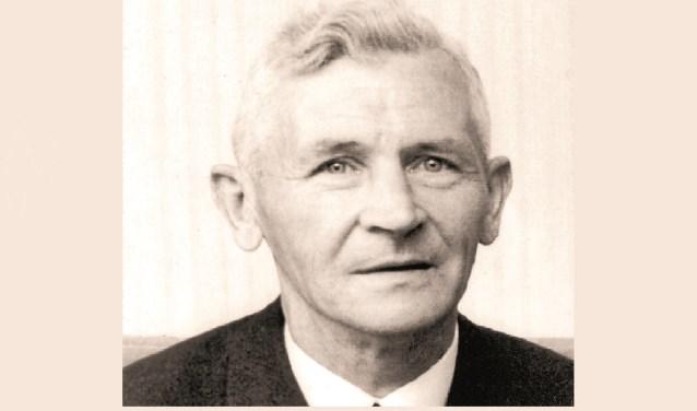 Ouderling G.J. Baan, ook wel bekend als 'Getjan van 'n Duusker'.