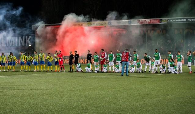 Op 12 maart van dit jaar verloor RKC Waalwijk de uitwedstrijd tegen FC Dordrecht nipt met 1-0. Vrijdag krijgen de Geelblauwen een herkansing. Foto: ProShots