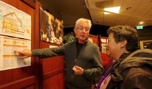 Hans Janssen legt tijdens de wijkontmoetingsdag in De Zilverkamp uit hoe woningen het best geïsoleerd kunnen worden. (foto: Kirsten den Boef)