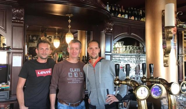 Van links af Jeroen van Veldhuizen, Raymond Oosterwijk en Niek Hofman (DJ Maroon Wax).