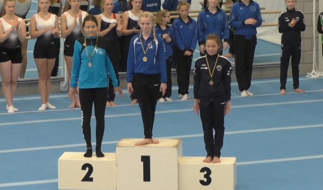 Pam verdiende een mooie bronzen medaille bij Jeugd1.