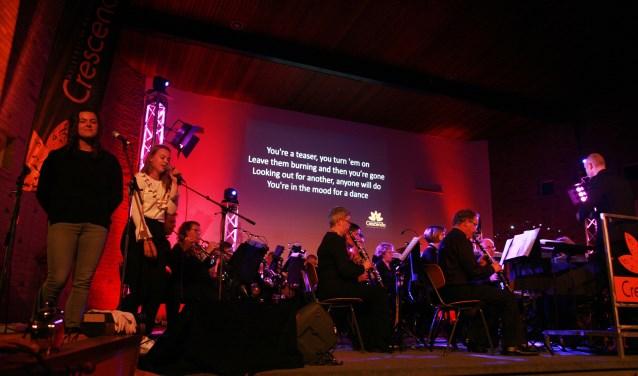 Chr. Harmonie Crescendo tijdens het Améézing Concert 2017