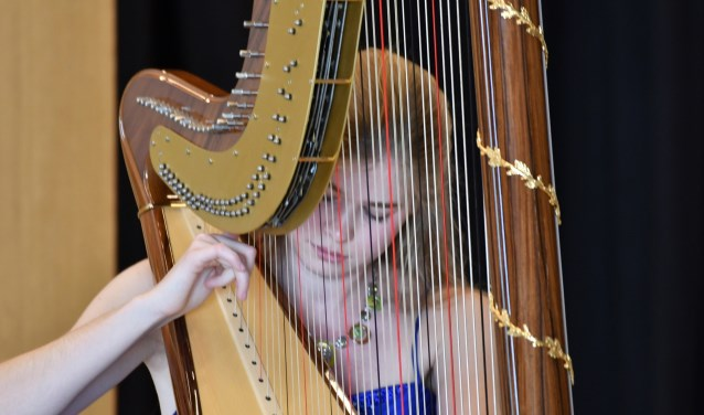 Michelle Sweegers speelt in het Kunstkerkje. (eigen foto)