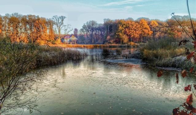 IJs op het Lonnekermeer in november. Foto: Arjen Hoogervorst