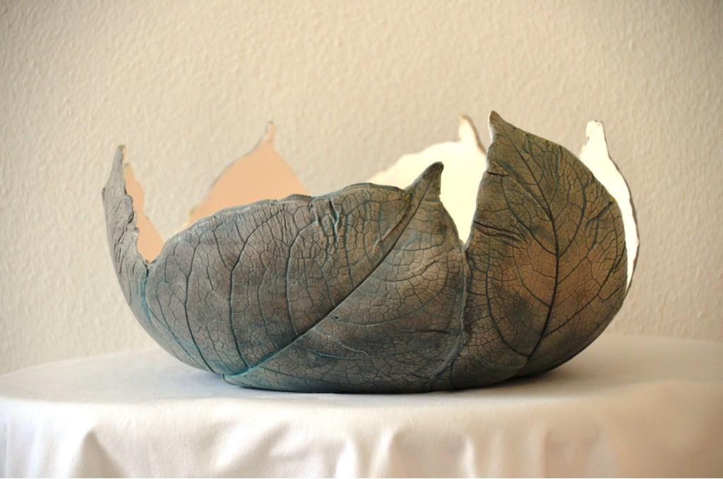 Een bladerenschaal van Willy Hoogstraten. Foto: Willy Hoogstraten © Persgroep