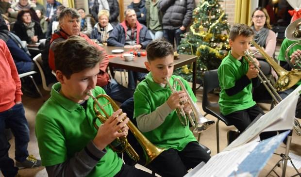 Vorig jaar kon in het oude dorpshuis worden genoten van een optreden van een jeugdorkest.