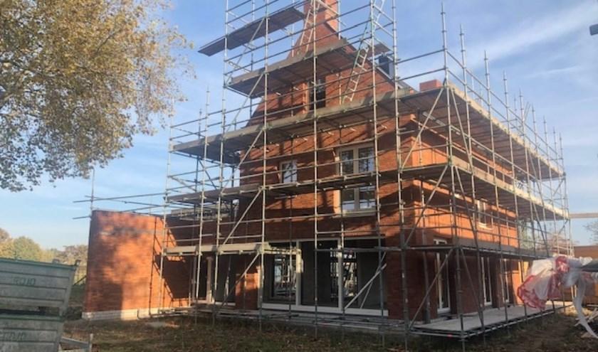 Eén van de villa's die in 2019 worden opgeleverd in het Maashaeghe Park. (persfoto)