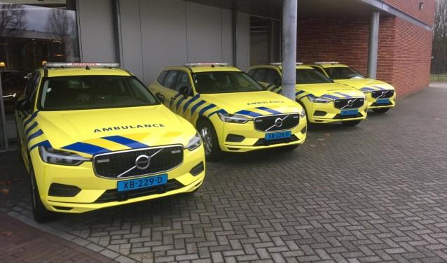 De vier nieuwe visiteauto's van de huisartsenpost. (foto: PR)