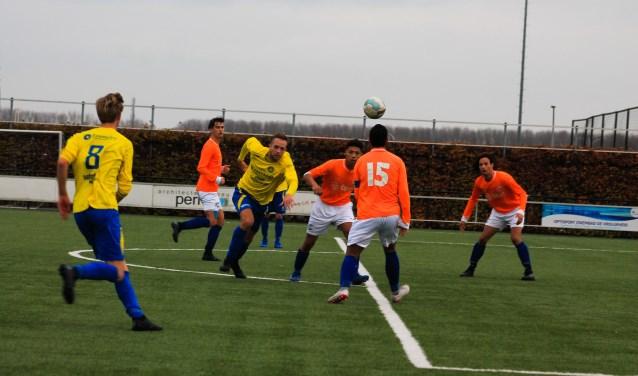 CSV'28 tegen Hatto-Heim eindigde uiteindelijk in gelijkspel: 1-1. Foto: Gradus Dijkman