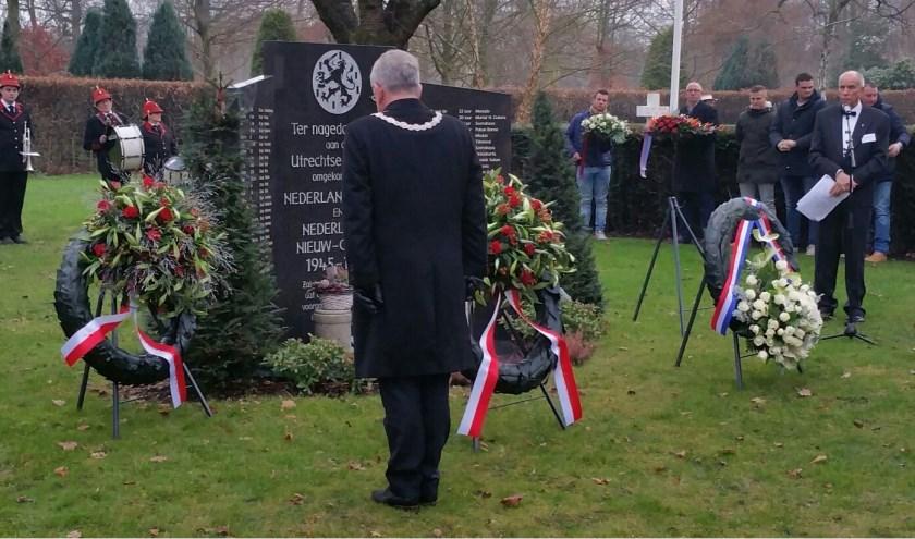 Op zaterdag 15 december vindt de twintigste herdenking plaats Utrechters die hun dienstplicht in voormalig Nederlands-Indië en Nederlands Nieuw Guinea het leven hebben verloren.