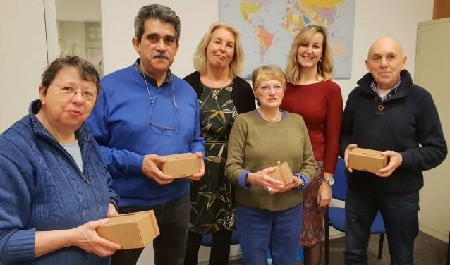 Van links naar rechts: Sonja de Weert, Juan Heinsohn-Huala, Mirjam Schippers, Jacinthe Winnubst, Mirjam Kort en Hans Bautz.