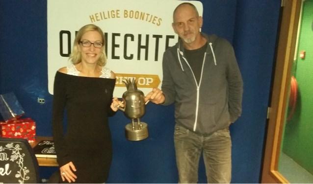 Eveline van Wanrooy en Rodney van den Hengel in Heilige Boontjes aan het Eendrachtsplein, de meest gastvrije onderneming van afgelopen jaar.