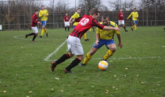 Roy Krusse scoorde zaterdag twee goals voor VV Stroe. Foto: Gert van Dijk