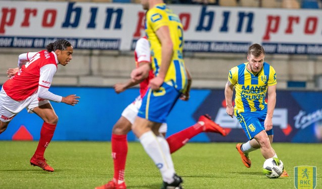 De laatste ontmoeting tussen RKC Waalwijk en MVV Maastricht op 16 maart van dit jaar eindigde in een gelijkspel (1-1). Foto: Alexander de Peffer