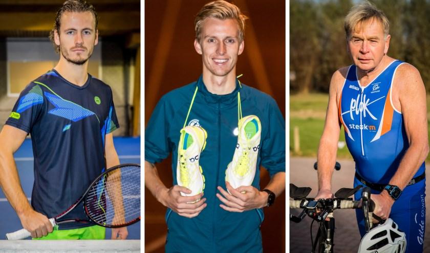 Wesley Koolhof, Frank Futselaar en Hugo Boschker zijn genomineerd als Aerofit Sportman. (foto: René Nijhuis en Sjoerd Geurts)