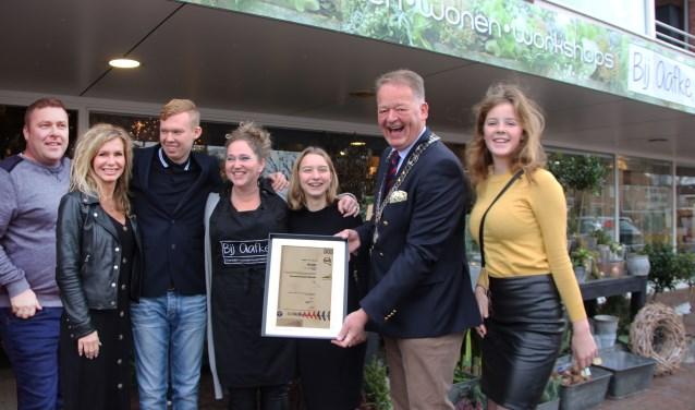 Bloemenwinkel 'Bij Aafke' in Krimpen aan de Lek is gecertificeerd voor de Barometer Duurzame Bloemist.