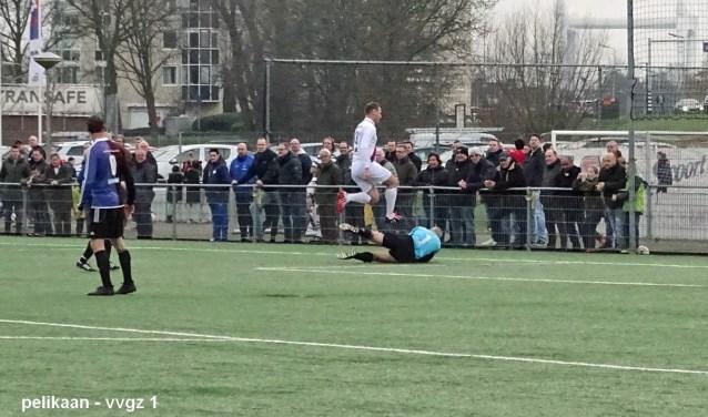 Jong en oud komen in actie tijdens de nieuwjaarswedstrijden bij VVGZ.
