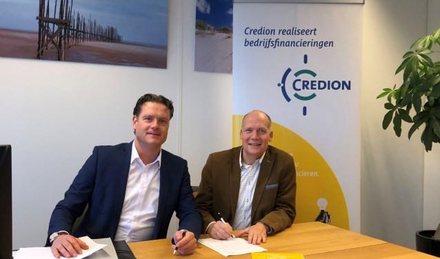 Jacob Nammensma (Credion Associatie) en Richard van Leeuwen (Credion Deventer-Zutphen)
