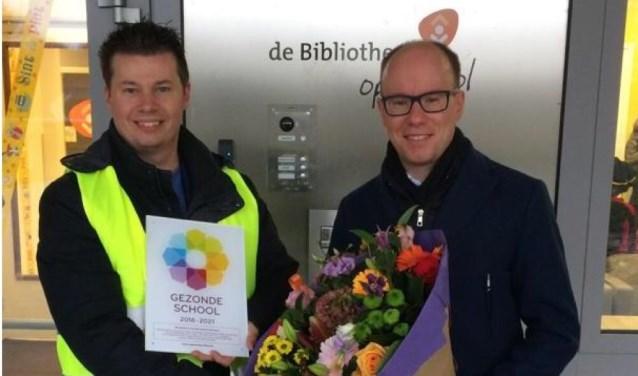 Basisschool De Harlekijn uit Cuijk ontving op maandag 26 november het vignet Gezonde School.