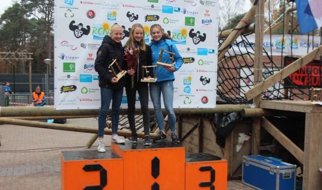 Het podium in Doorn, Emma Nijenhuis winnaar