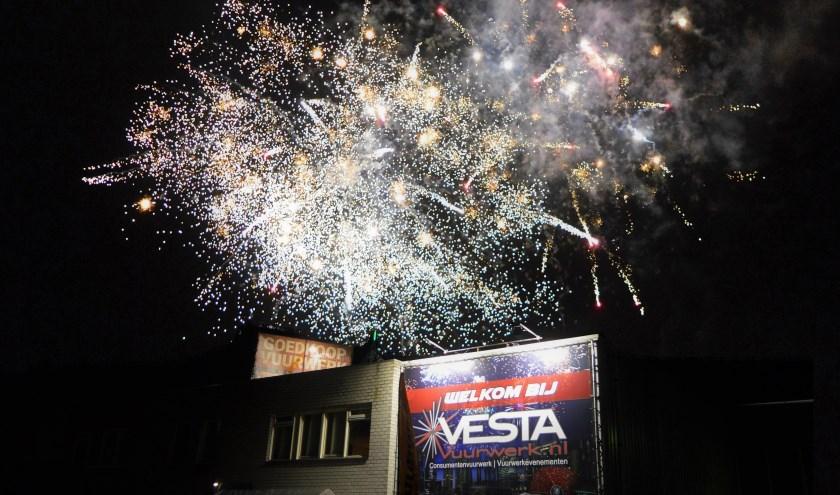 De Vesta Vuurwerkshow van zaterdag 22 december.