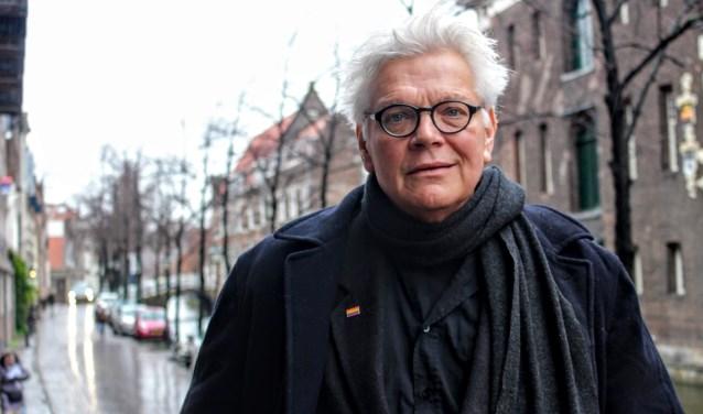 De Delftse acteur Piet van de Pas staat 13 december in Delft op de planken (foto: Indebuurt.nl/delft)