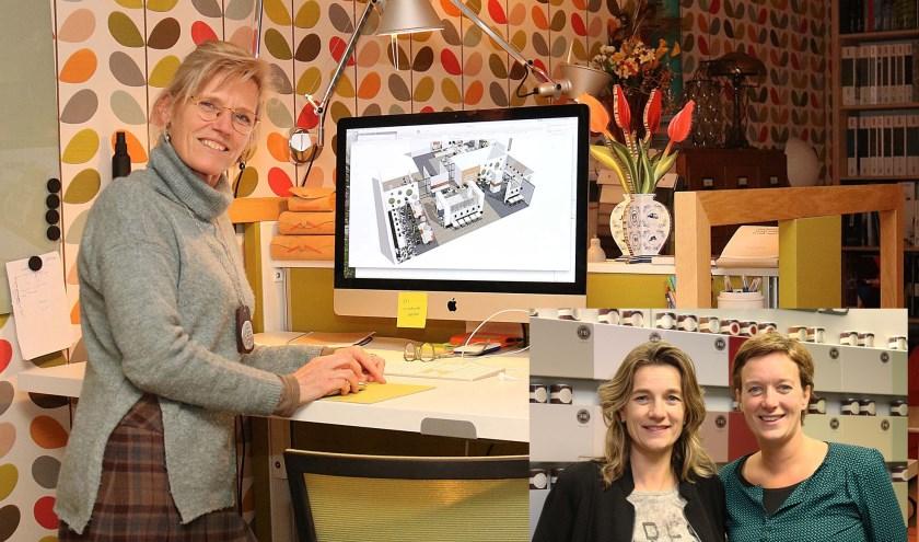Ilse Panis van Interieuratelier Panis in Leersum en Amsterdam. Inzet: Hendra en Tertia Huyser van De Kleurenwaaier in Maarsbergen.