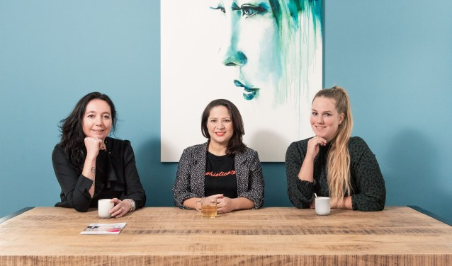V.l.n.r. Sanna Bogaerts, Jerney Antonie en Lindsey Janssen. (foto: Istar Verspuij)