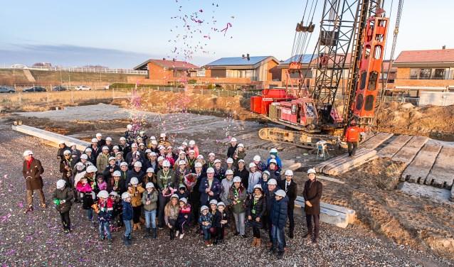 Feest op de bouwplaats van de laatste fase Portlandsehoek (Foto: PR)