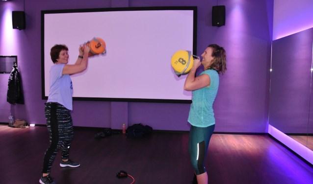 Petra Mabry, tijdens een van haar sportlessen bij Anytime Fitness.