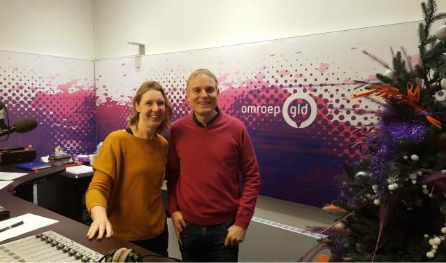 Jordi Bloem in de ochtendshow 'Goedemorgen Gelderland' met Nieke Hoitink.