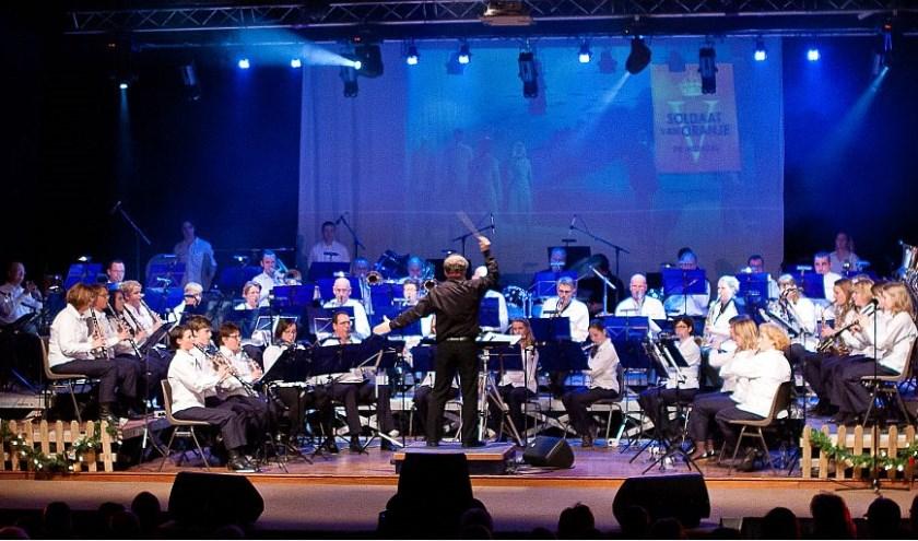 Harmonie de Volharding bij een eerder optreden. Foto: Connie Sinteur Fotografie.
