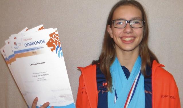 De succesvolle zwemster Colinda van der Zanden uit Vierlingsbeek.