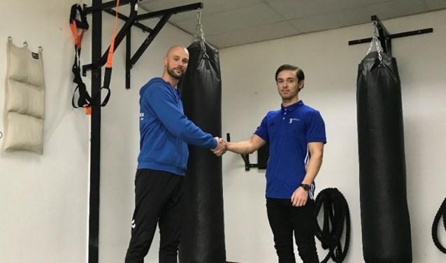 Erwin Lagcher van PFN en Sean Domburg van TSK