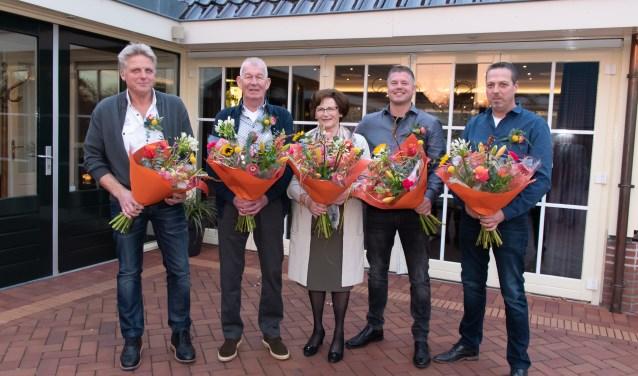 Gert Jan ten Brinke, Mans Drijer, Janny Nijkamp, Richard Gerritsen, Arjan Tjoink