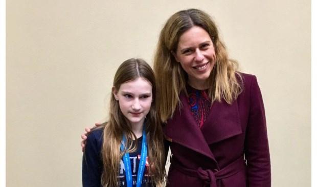 Op de foto met minister Carola Schouten...een buitenkansje! Eigen foto