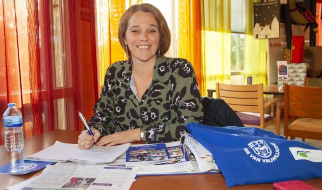 Lydia zet zich als vrijwilliger in naast haar gezinsleven, betaalde baan en drukke sociaal leven. (FOTO: Cees van Meerten FotoExpressie)