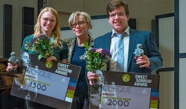 Van links naar rechts: Rhodé de Wolf, Ria den Oudsten en Timothy Versyers. Foto: Mascha Meijer