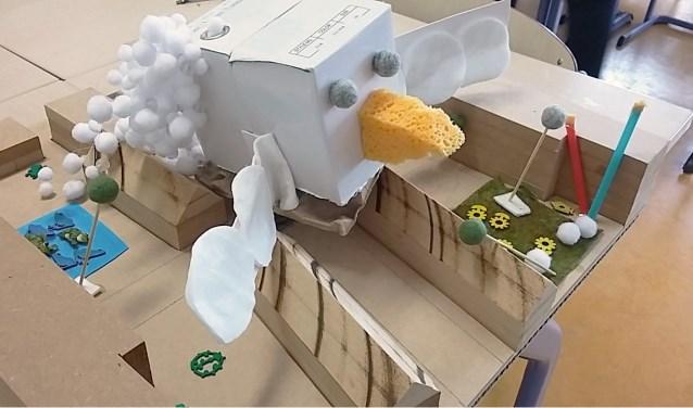 Maquette van ontwerp door kinderen