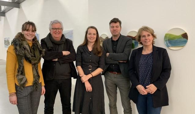 Van links naar rechts: Isis Reusken, Arno Oberendorff, Tahné Kleijn, Jochem Otten en Antoinette Maas.