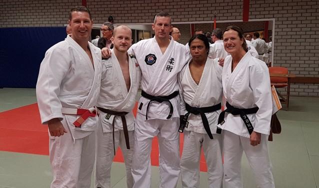 Nillis Reawaroe en Rene den Adel van jiu-jitsuvereniging Kihon.