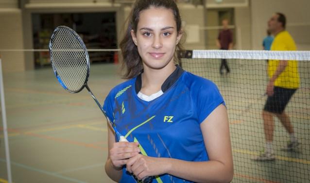 Aparna Schulze-Dash van badmintonclub Schollevaar. (Foto: Wijntjesfotografie.nl)