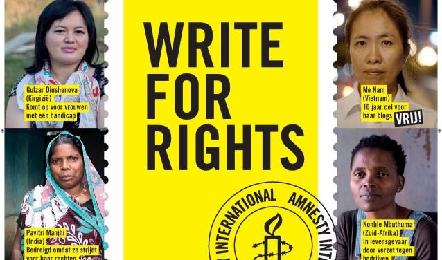 10 vrouwelijke mensenrechtenactivisten voor wie geschreven wordt