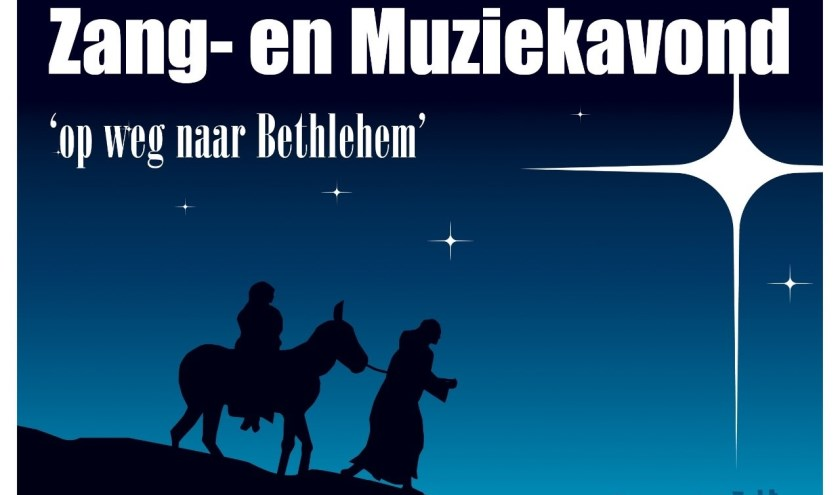 Thema van de avond is 'Op weg naar Betlehem'.